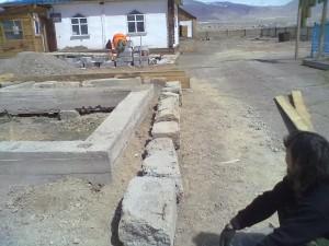 Начало строительства новой церкви.